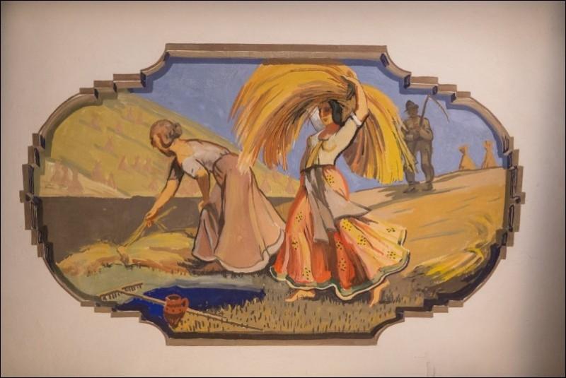 Sabile_Abavas tautas nams_Žaņa Sūniņa griestu gleznojumi (1)