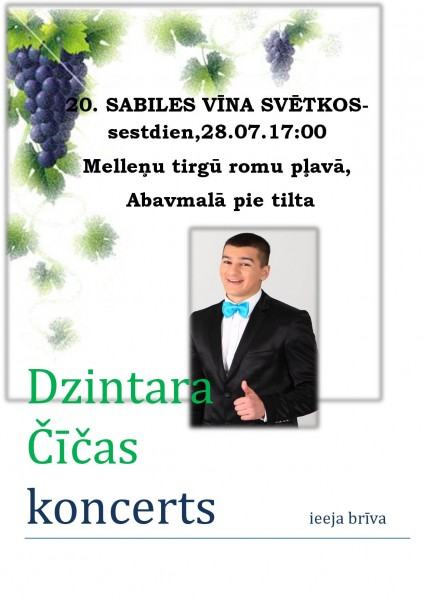 Dzintara Cicas koncerts_afisa