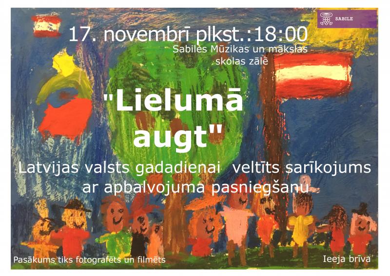 Sabile_Latvijas Republikas proklamesanas pasakums_2019_17 novembris