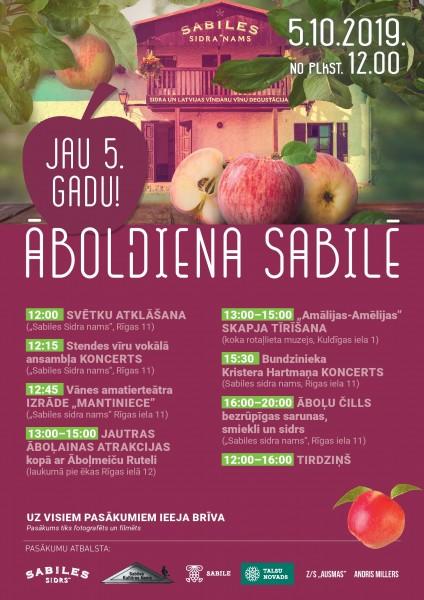 Sabile_Piekta Aboldiena_Sabiles Sidrs_Afisa_2019_5 oktobris