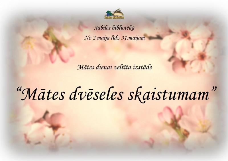Sabiles biblioteka_Mates dienai veltita izstade_2019_maijs