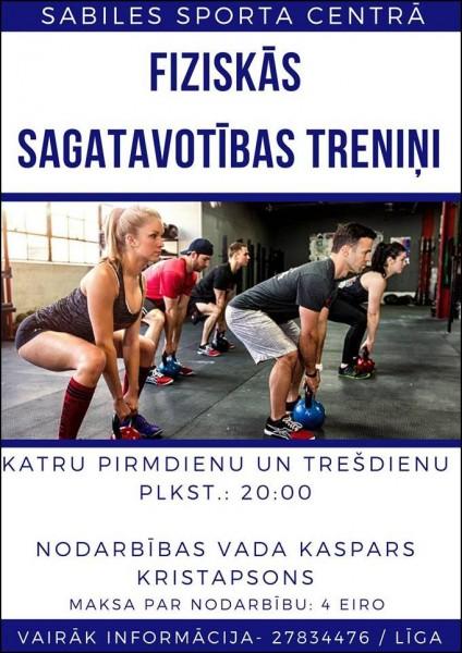 Sabiles sporta centrs_fiziskās sagatavotības treniņi