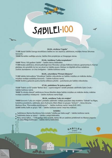 Sabilei 100_programma