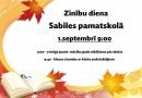 Zinību diena Sabiles pamatskolā 1. septembrī