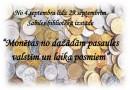 Monētu izstāde Sabiles bibliotēkā