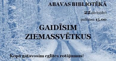 Ziemassvētki Abavas bibliotēkā 22. decembrī
