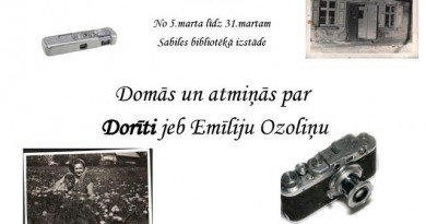 Martā Sabiles bibliotēkā izstāde par Emīliju Ozoliņu jeb Dorīti