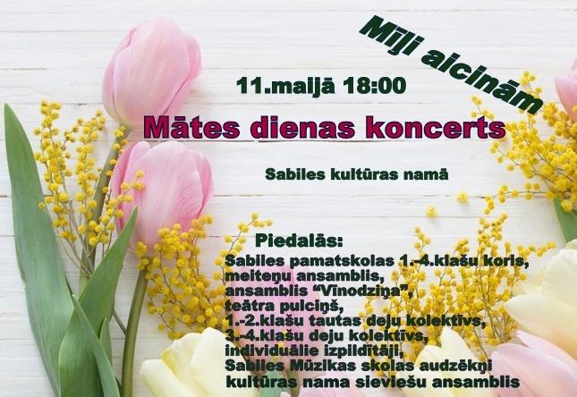 Mates dienas koncerts Sabile