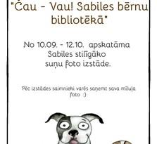 Septembrī Sabiles bērnu bibliotēkā apskatāma stilīgāko suņu foto izstāde