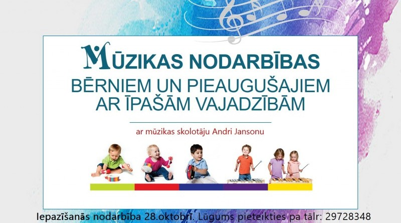Mūzikas nodarbības bērniem Sabilē