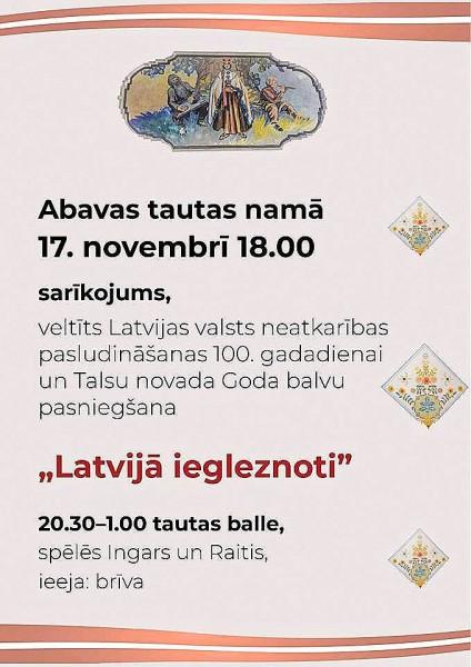 17. novemrbris Abavas tautas namā