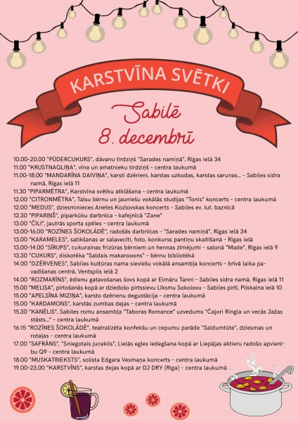 Sabiles Piekto Karstvīna svētku programma_2018