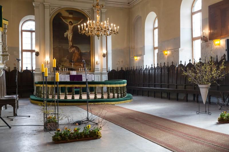 Sabiles evaņģēliski luteriskās baznīcas interjers