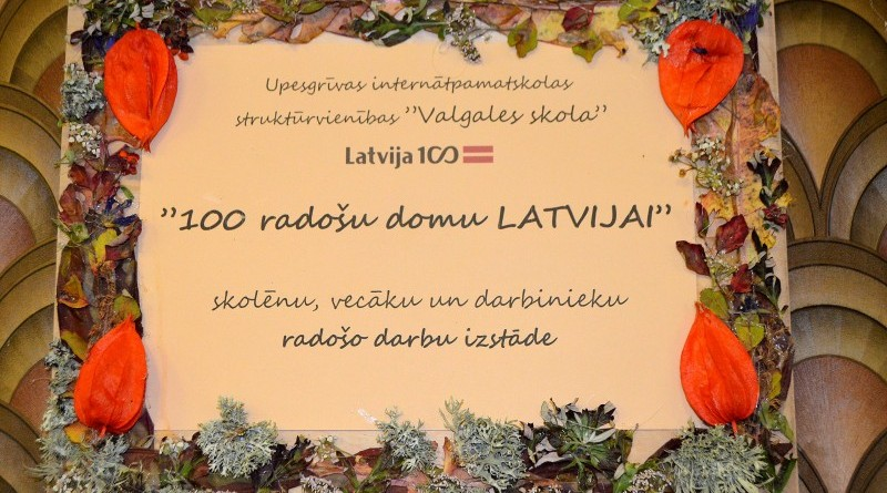 Sabiles bērnu bibliotēka_Izstāde_100 radošu domu Latvijai (1)