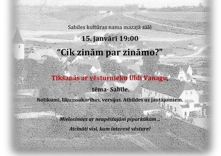 Sabiles kultūras nams_Tikšanās ar vēsturnieku Uldi Vanagu_1