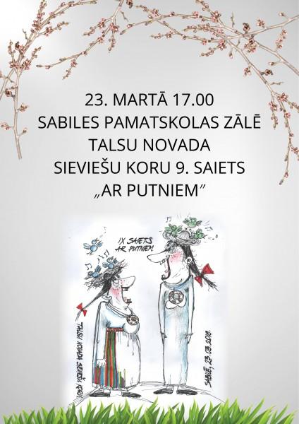 Talsu novada sieviesu koru saiets_2019_marts