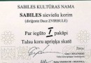 Diploms Sabiles kultūras nama sieviešu korim