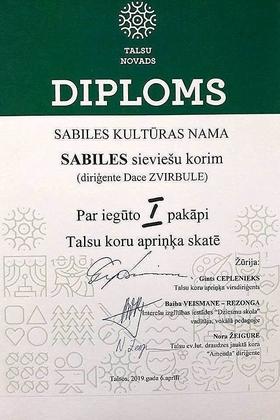 Diploms_Sabiles kultūras nama sieviešu koris_2019_aprīlis (2)