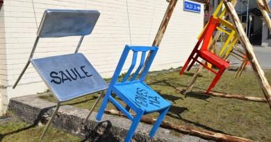 """Lieldienās Sabiles centru rotā """"šūpoļ-krēsli"""""""