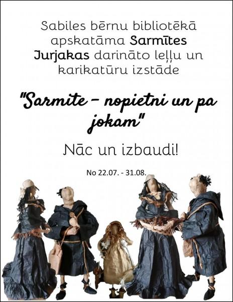Sabiles bernu biblioteka_Sarmite Jurjaka_karikaturas_2019_julijs