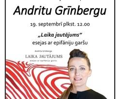 Tikšanās ar Andritu Grīnbergu Sabiles bibliotēkā 19. septembrī