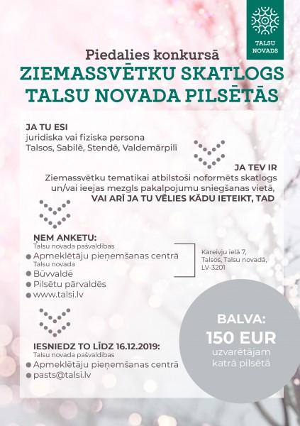 Talsu novads_Ziemassvetku konkurss_afisa