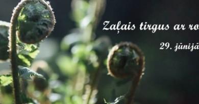 """""""Zaļais tirgus ar rozīnīti"""" 29. jūnijā plkst. 11.00 Sabilē, pie Sarades namiņa, Rīgas ielā 34"""